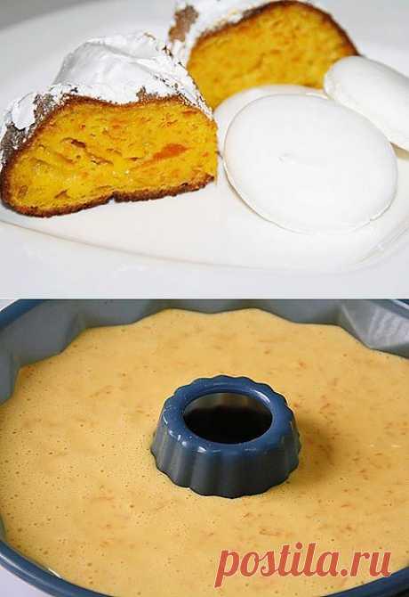 Тыквенный пирог с безе - Очень просто, вкусно и недорого.