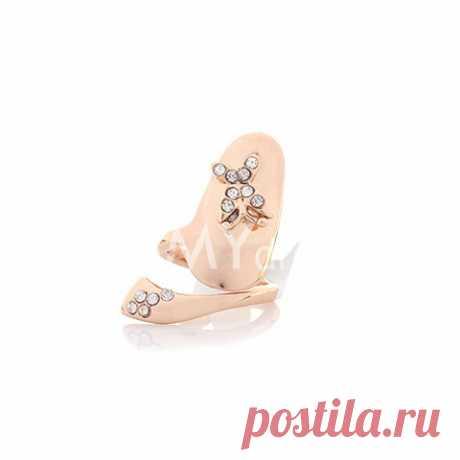 El anillo único sobre la uña con el dibujo de la mariposa con strazami para las mujeres (1 sht) (el Color del Surtido, la dimensión Única) | Sammydress.com