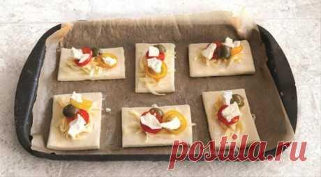 Закусочные квадратики с помидорами, пошаговый рецепт с фото