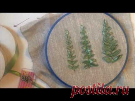 The leaf embroidered with tapes