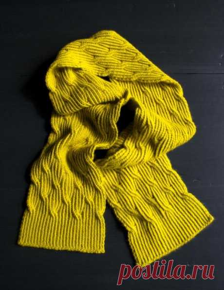 Стильный шарфик Rivulet от Purl Soho из категории Интересные идеи – Вязаные идеи, идеи для вязания