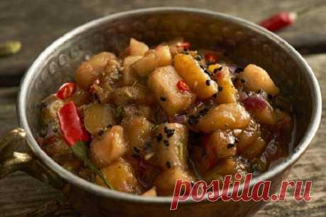 Индийский соус чатни из манго и яблок – пошаговый рецепт с фото.