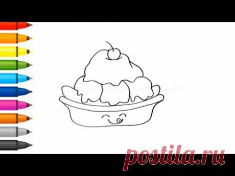 Coloring - How to draw ice cream