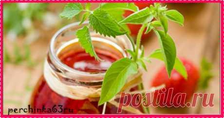 Клубничное варенье с мятой и базиликом