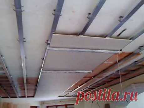 Одноуровневый подвесной потолок своими руками — Самострой