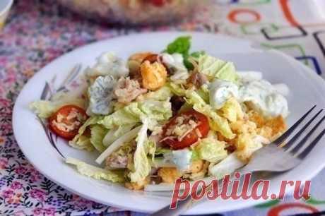 Как приготовить салат цезарь по-русски - рецепт, ингридиенты и фотографии