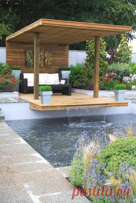 Как обустроить сад и бассейн   :)