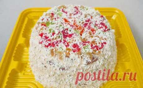 """Торт """"Кокосовый"""" для правильного питания. Рецепт с пошаговыми фото"""