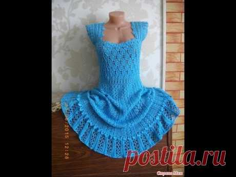 """Платье крючком (по мотивам """"Антония"""" Ванессы Монторо)  // Knit crochet dress"""