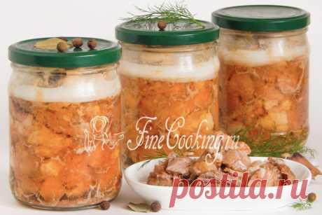 Домашняя тушенка из свинины Свиная тушенка, приготовленная в домашних условиях - это отличное мясное блюдо на все случаи жизни.