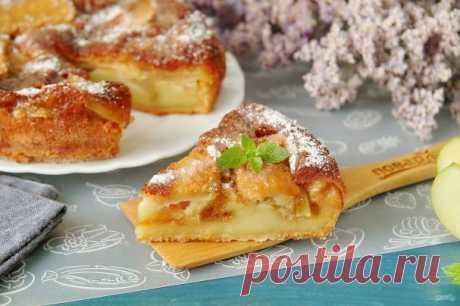 Парижский яблочный пирог (вариант в граммах + другая заливка) - пошаговый рецепт с фото на Повар.ру
