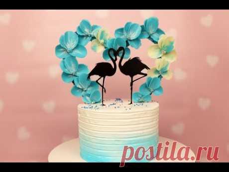 Полностью съедобная АРКА для торта / Шоколадная флористика / Идея маленького свадебного торта