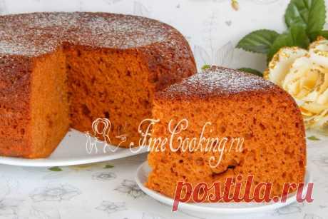 Карамельный бисквит в мультиварке - рецепт с фото