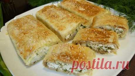 Закуска из лаваша с творогом и зеленью в духовке - Простые рецепты Овкусе.ру
