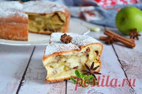 Шарлотка с яблоками в сметане в духовке рецепт с фото пошагово и видео - 1000.menu