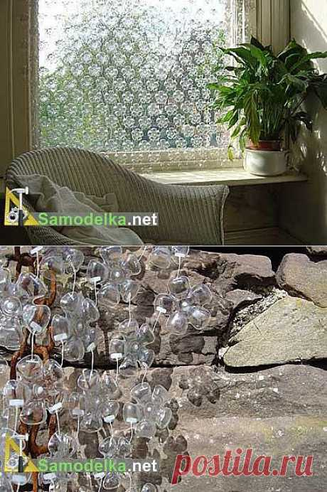Self-made curtain from bottoms from plastic bottles \/ Garbage in business \/ Самоделка.net - Make itself with own hands | Homemade products. Useful tips and recommendations to the house handyman
