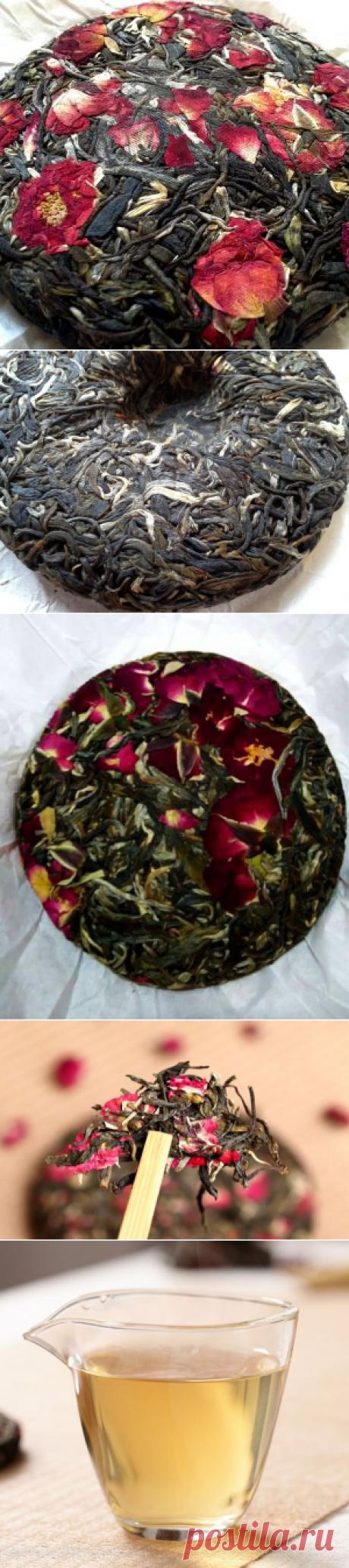 Шен Пуэр с бутонами розы 100г.