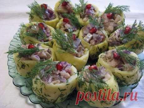 La colación del arenque y las patatas