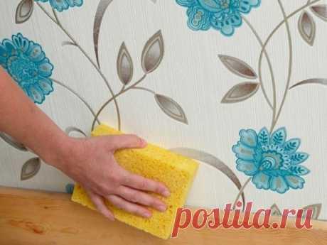 Как избавиться от пятен на флизелиновых, бумажных и виниловых обоях / Домоседы