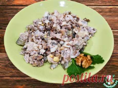 Салат из куриной грудки с грецкими орехами Кулинарный рецепт