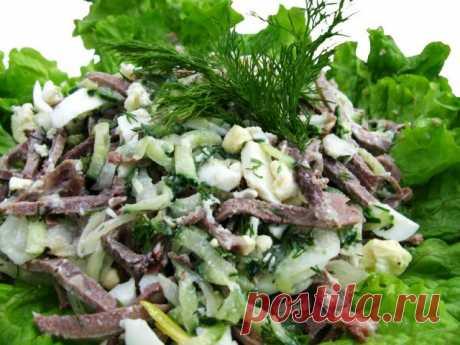 Как готовить разнообразные салаты из языка :: Кулинарные рецепты