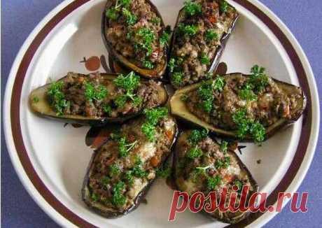 Баклажаны, фаршированные с мясом - пошаговый рецепт с фото. Автор рецепта Елена . - Cookpad