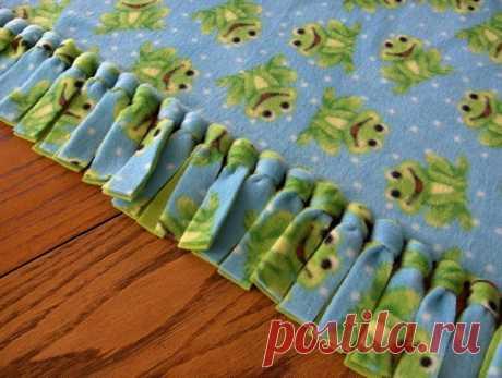 Двойное одеяло без шитья