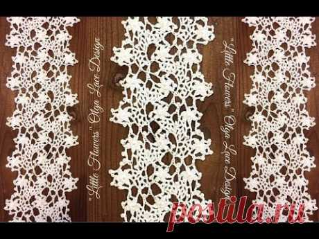 """Tape """"Little Flowers&quot lace; from Olga Lace. The master - a class."""