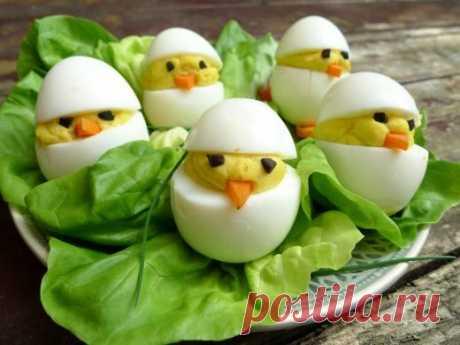 Gevulde eieren - kuikentjes
