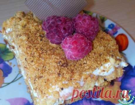 Песочные пирожные с творожным кремом и ягодами – кулинарный рецепт
