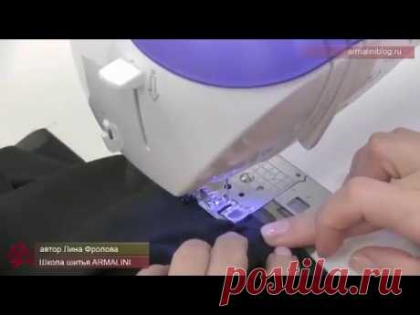 Способ обработки проймы (или горловины) косой бейкой из шифона