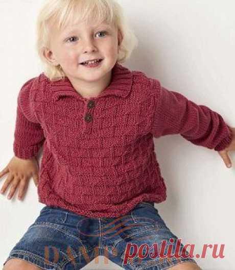 (+2) Детский пуловер «Hammond» (Вязание спицами)