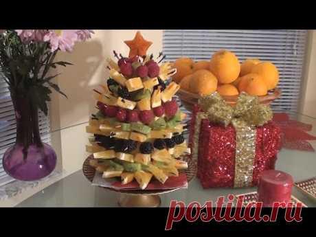 Фруктовая елочка.Ягоды и апельсины.Amazing Christmas Fruit Tree