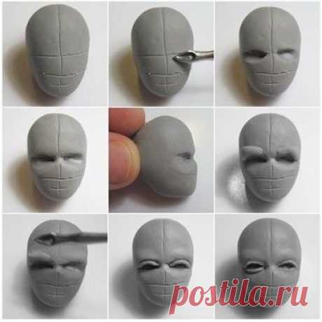 (1) Gallery.ru / Фото #1 - Процесс лепки кукольного лица из полимерной глины - Vladikana