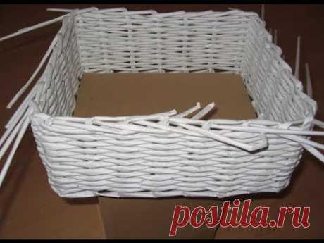 Плетение корзин  Плетение из газетных трубочек  для начинающих