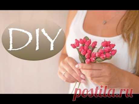 Очень простые ягодки из бумаги - DIY Tsvoric