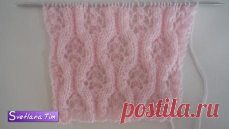 Вязание спицами со схемами. Модели, схемы и описания вязания спицами: Ажурный узор КОЛЕСО. Вязание спицами # 346