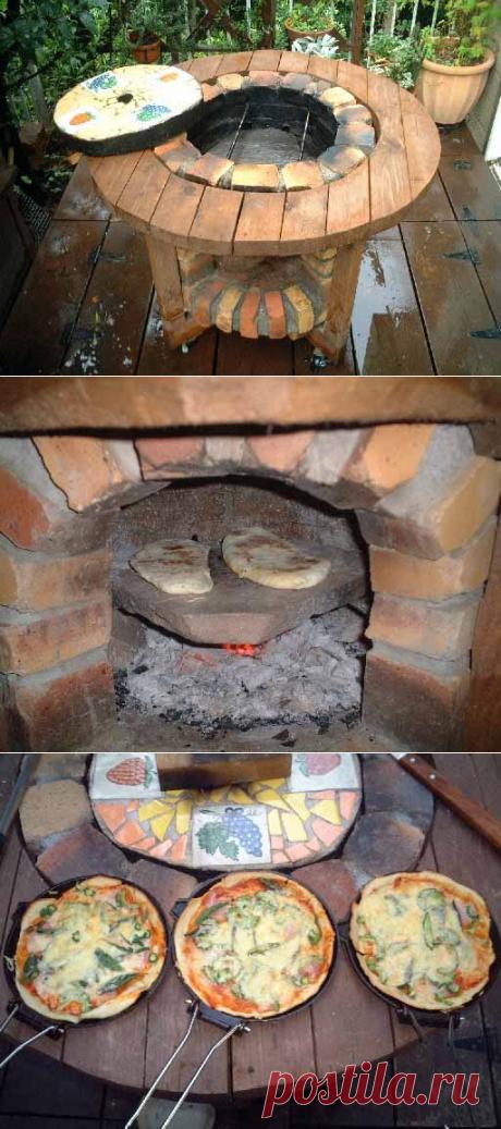How to make an original brazier of a brick