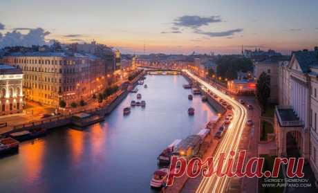 Ночной Санкт-Петербург, Россия | Сферические aэропанорамы, фотографии и 360° виртуальные туры самых красивых городов и уголков нашей планеты, 360° панорамы вокруг света