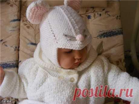 Детская шапочка-мышонок.
