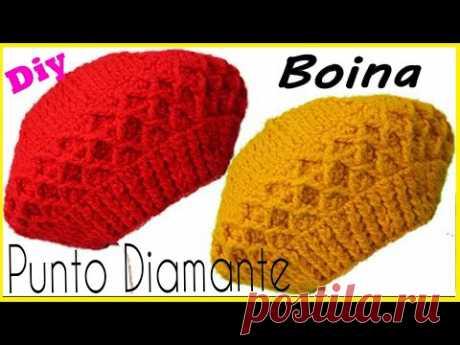 🌈Boina a Crochet en PUNTO DIAMANTE ( Facil y Paso a Paso) crochet hats ❤