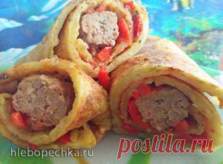 Картофельный рулет с мясом (Princess 115000) - Хлебопечка.ру