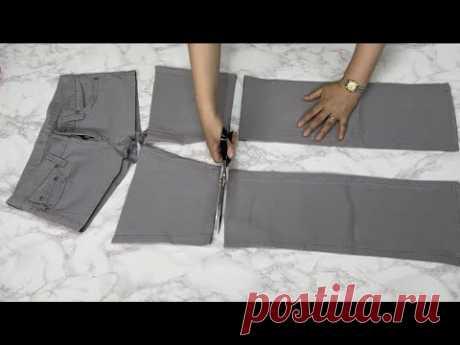 [DIY] Давайте посмотрим на переработку штанов, которые вы не носите 2   Вам это очень понравится!