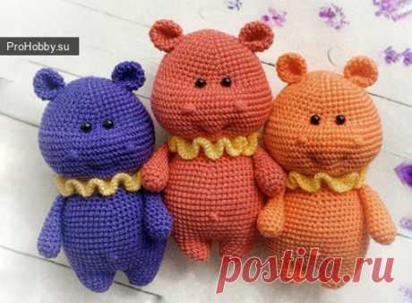 Бегемотики / Вязание игрушек / ProHobby.su | Вязание игрушек спицами и крючком для начинающих, мастер классы, схемы вязания