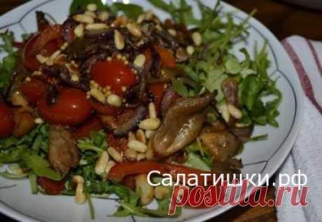 РЕЦЕПТ ПОСТНОГО САЛАТА ИЗ ВЕШЕНОК С ПОМИДОРАМИ » Рецепты вкусных салатов