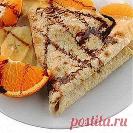 Апельсиново-шоколадные блины рецепт – выпечка и десерты