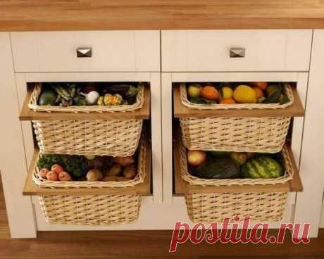 Система хранения продуктов: оригинальные решения на фото
