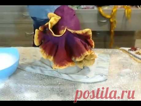 Валяние из шерсти  ✿  Банная шапка Ирис  ✿  МК  Ирины Пановой  ✿  Wool sauna hat