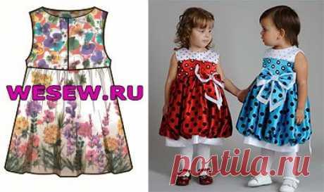 Выкройки детских платьев для маленьких, ребёнка на 3 года, на 5 лет и на 10 лет своими руками