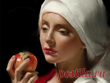 Я красных сладких яблок не люблю...